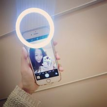 Universal Mobile Phone LED Selfie Ring Flash 3 Modes Lighting Luminous Case For iPhone 5s 6S Plus 7 7plus LG  Samsung S6 S7 ect.