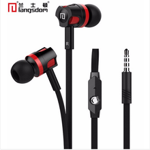 Original Langsdom JM26 Stereo Hifi Earphone Super Bass Earphones with microphone Flat Wire Headset for all Phone Mp3 3.5mm
