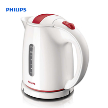 Philips Daily Collection Kettle 1.5 L 2400 W Water level indicator White red Hinged lid HD4646/40