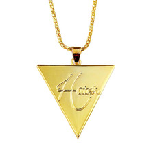 Special Vacuum Plating Corn Chain Explosions Hatet Plated Triangle Pendant Wholesale More Discount NL0140