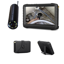 "DHL free shipping 2.4G wireless pipe chimney inspection camera DVR(90deg view angle, 5"" HD screen,motion detect, loop recording)"