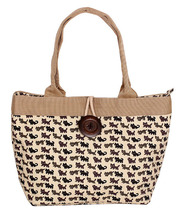 New arrival Ladies cats printed style canvas tote bag everyday bag handbag