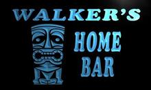 x1025-tm Walker's Home Tiki Bar Custom Personalized Name Neon Sign Wholesale Dropshipping On/Off Switch 7 Colors DHL