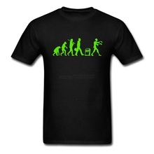Funny Zombie Evolution Men Tshirt Screen Printing Tees Shirt Men's Short Sleeve O Neck Plus Size Tops Tee For Guys