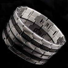 CHIMDOU Gothic Men Stainless Steel Bracelet Retro Fashion Punk Rock Style Cool Great Wall Pattern Bracelet Man Jewelry,AB1146(China)