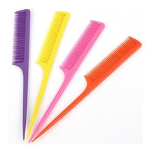 1 Piece Baby Cutting Comb Hard Plastic Combs Sharp Point End Assorted Color(China)