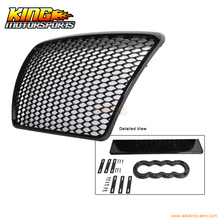 For 05-10 Audi A6 C6 RS Honeycomb Mesh ABS Front Hood Grille Grill Shiny Black USA Domestic Free Shipping Hot Selling