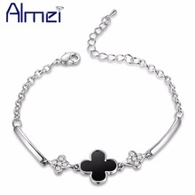 Bracelets for Women Clover Bracelet Lady's Best Jewelry Christmas Silver Pulseras Bangles European and American Hot Sale QW1044