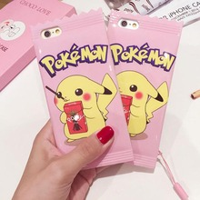 Girls IMD Pink Candy Rubber Phone Case for iPhone 6 6s Newest Cute Cartoon Soft TPU Back Cover Shell For iphone 7 Plus Cases