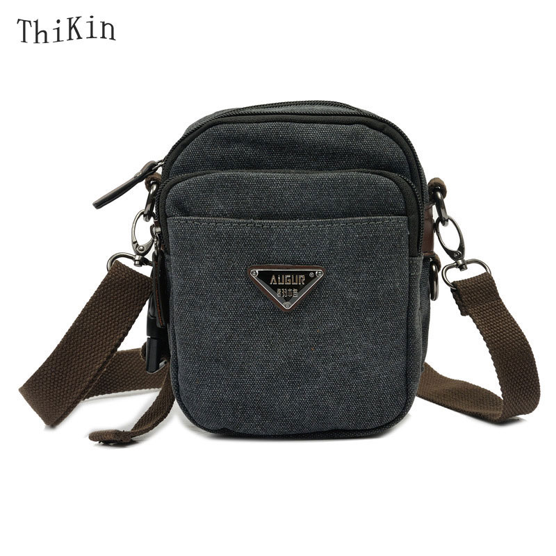 Portable Men Messenger Bag Canvas Small Bag Multifunctional Shoulder Bag Solid Color Flap Travel Crossbody Bag <br><br>Aliexpress