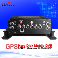 8ch gps mobile dvr gps tracker black box mdvr with 2t hard disk cycle recording pc /mdvr playback car dvr(China)