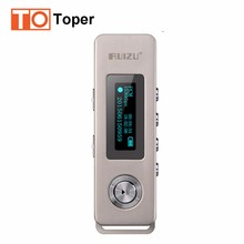 2017 100% Original RUIZU K10 HD Digital Voice Recorder 8GB Noise Reduction Mini MP3 Player Portable Small Recorder for Lectures(China)