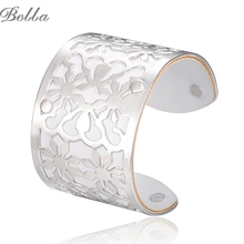 jewelry Gold-color Cuff Bracelets Bangles For Women Femme Jewelry Round Trendy Bracelet buy direct from china (s0002)