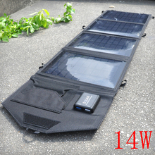 14W 5V Portable Folding Solar Charger Solar Panel Battery Charger Backup For Cell Phone Charger High Quality(China)