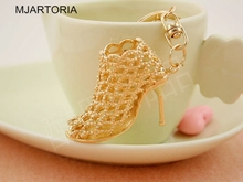 20% Off Unique Gift 1PC Gold Color Keychain High Heels Pendant Metal Key Chains Keychains Accesssory