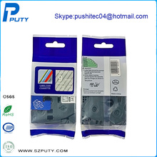 Hot Sale 3pcs/lot Compatible Tz Tape White on Clear Cassette TZ125 TZe125 for P-touch Label Typewrite