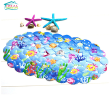 Bathroom Starfish Impermeable Non-Slip Bubble Mat Tub Shower With Suction Cups(China)