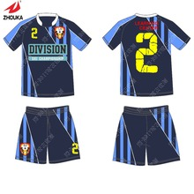 professional custom top quality hot sale 2016 home sporting Set men's soccer uniforms suit(China)