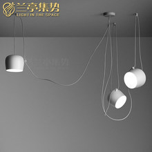 White Modern Simple Pendant Lamp Pensonal Creative Small Drum Shape Light Clothing Store Light Study Light Free Shipping