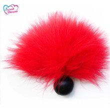 Buy Anal Beads Animal Tail Butt Plug Artificial Cute Rabbit Tail Foreplay Flirting Sex Toys Woman Adult Sex Products DW-322