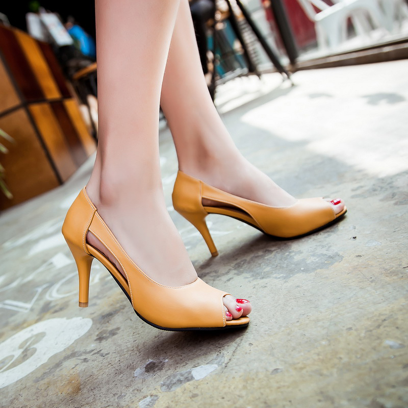 2016 summer  Pointed shoes med heel Thin with shoe Soft leather platforms womens solid shoes big size 32-43 T1070<br><br>Aliexpress