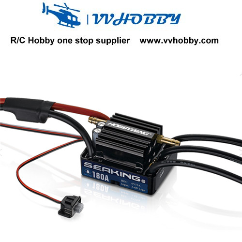 Hobbywing Seaking 30A 60A 120A 130A 180A V3 Brushless ESC for Boat (Version3.0) with Water Cooling System for RC racing boat<br>