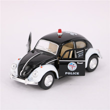 13cm Diecast & Toys Vehicles Police Cars Models, 1:32 Scale Pull Back Police Cars, Doors Openable Toy For Collection, Kids Toy