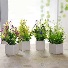 2016 Hot sale simulation flower potted plant artificial flowers Home decoration artificial plants Home Ornaments,S3068