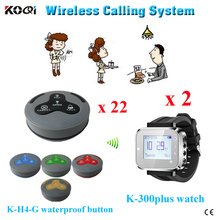 Ycall Brand 433mhz coffee shop waiter calling guest call service wireless communication system for restaurant(China)