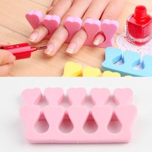 One pair New Fashionable Nail Art Soft Finger Toe Separator Makeup Tools Pedicure Manicure Tools Color Random HB-0052