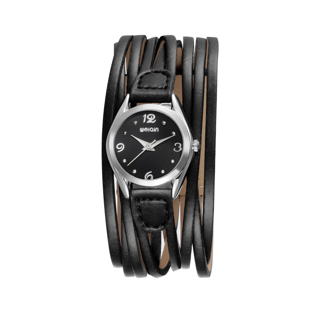 WEIQIN Fashion Luxury Bracelet Quartz Watch Women Personality Black Leather Strap 3ATM Wristwatch Girl Dress Watches Gift Reloj<br><br>Aliexpress