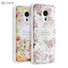 Super 3D Relief Printing Clear Soft TPU Case For Meizu Mx5 5.5 inch Phone Back Cover Ultra-thin Shell Free Ring Holder Film