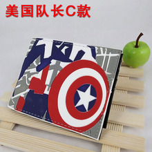 Colorful Silica Short Wallet Waterproof Purse of Captain America Super Hero Steven Rogers Type C