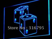 i897 Dice Game Gamble Bar Beer LED Light Sign On/Off Switch 7 Colors