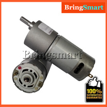Low Speed 12 volt Electric Motor 12V 6V High Torque DC Reversed Reduction Engine Gear Motor JGB37-550 Bringsmart