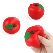 Squishy Slow Rising Stretchy Squeeze Charms Straps For Cellphone Apple Red Green Pendant Bread Kids Toy Gift Cute Phone Straps