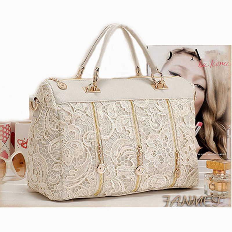 Women Handbag New Fashion Style Ladies Lace Messenger Bag High Quality Female Famous Design Tote Shoulder Bag<br><br>Aliexpress