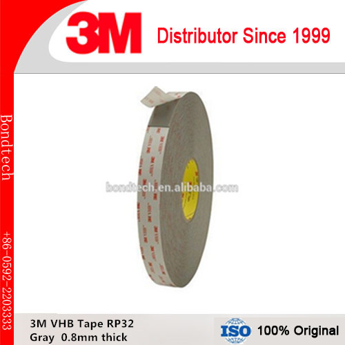 Free Shipping 3M VHB acrylic tape RP32/ 3M VHB gray tape with 0.8mm thick, 10mmX33M/roll<br>