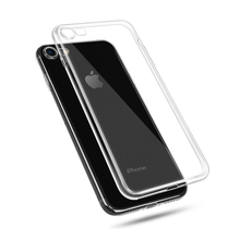 For iPhone 6 6S 7 7Plus Transparent TPU Silicone Soft Case Ultra Thin Clear Mobile Phone Protector Case Cover With Dust Plug