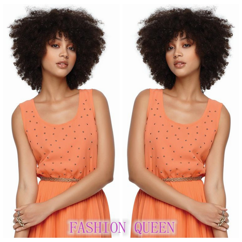 1PC Synthetic Afro Kinky Curly Wig Short Curly Wigs For African American Black Women Kanekalon Fiber Natural layered haircuts<br><br>Aliexpress
