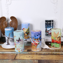Creative Tin Layering Storage Box Gift Box Manual Metal Biscuit Box Jewelry Storage Tin Box Christmas Decoration Supplies