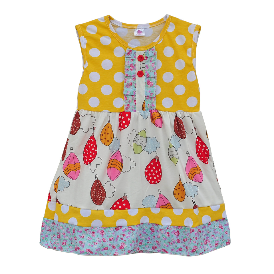 Fashion Lovely Baby Girls Summer Dress Polka With Cute Swing Infant Baby Clothing Boutique Children Hot Sale Spring Dress DX015<br><br>Aliexpress