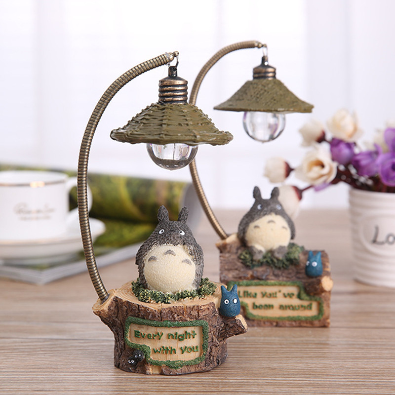 18cm Anime My Neighbor Totoro LED Light Action Figure Toy Studio Ghibli Miyazaki Resin Action &amp; Toy Figures Baby Toys Brinquedos<br><br>Aliexpress