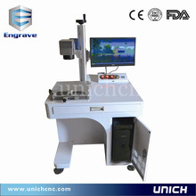 best price CE FDA Metal Fiber Laser Marking Machine with Rotary Chuck/metal plastic wood fiber laser marking(China)