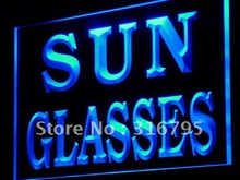 j213 Sun Glasses Shop Display Decor LED Light Sign Wholeselling Dropshipper On/ Off Switch 7 colors DHL