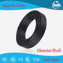 10 Meter(32.8FT) /Roll 12AWG 4mm2 Solar Cable PV Wire 2000V 4703 Copper Wire Copper Conductor XLPE Jacket TUV Certifiction