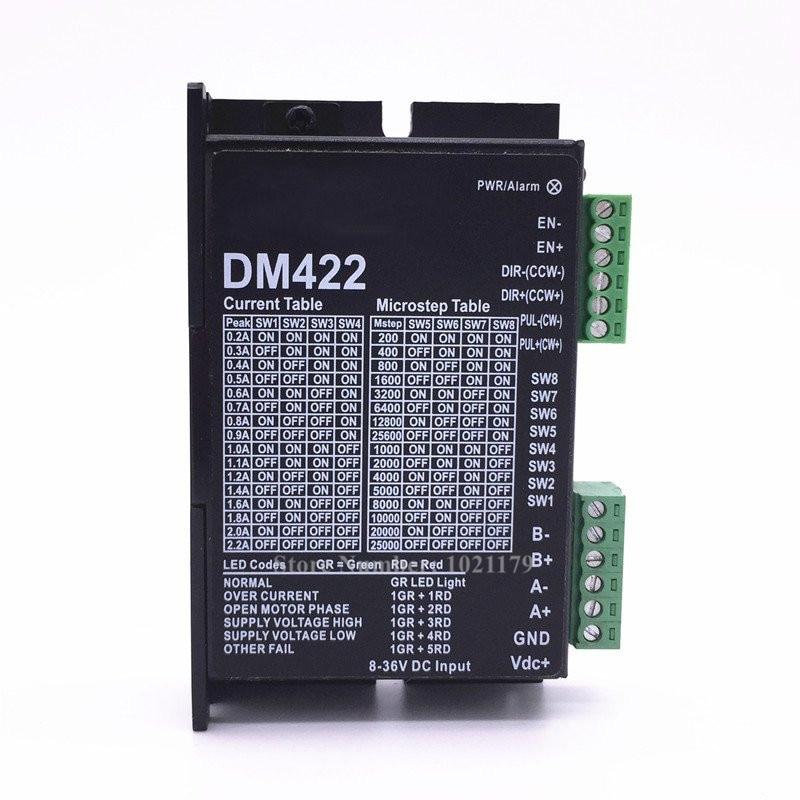 DM422 DC 24V  25 28 35 42 Steppter Motor Driver 300KHz 2 Phase 0.2A-2.2A 8-36VDC Motor Driver For Nema 14 15 17 Motor<br>