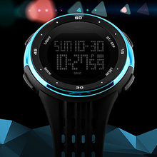 Mens Casual Waterproof Stopwatch Week Date Display Digital Wrist Watch