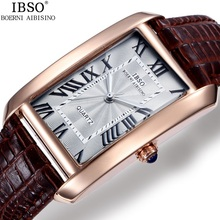 2016 IBSO Brand Elegant Retro Watches Women Fashion Luxury Quartz Watch Clock Female Casual Genuine Leather Women's Wristwatches