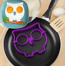 1Pcs Funny Side Up Owl Silicone Omelette Shaper Fried Frying Mold Pancake Egg Ring Kitchen Cooking Tool F0337(China)